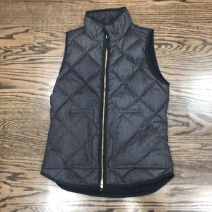 Quilted gray vest